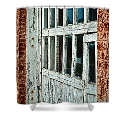 Shower Curtain featuring the photograph Bay Door by Greg Jackson