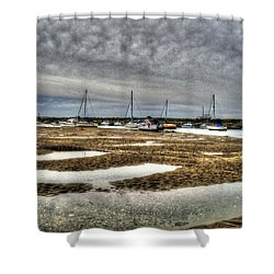 Bay Force Shower Curtain by Doc Braham