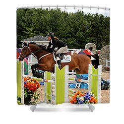 Bay Show Jumper Shower Curtain