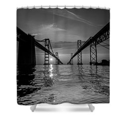 Bay Bridge Strength Shower Curtain