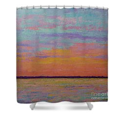Bay Sunset Shower Curtain by Gail Kent