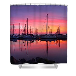 Bayfield Wisconsin Magical Morning Sunrise Shower Curtain