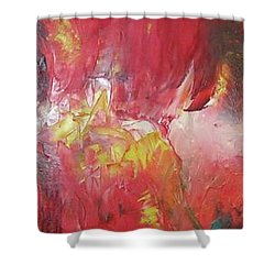 Bayley - Exploding Star Nebuli Shower Curtain by Carrie Maurer