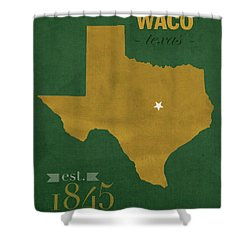 Baylor University Bears Waco Texas College Town State Map Poster Series No 018 Shower Curtain by Design Turnpike