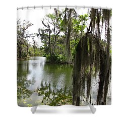 Shower Curtain featuring the photograph Bayou by Beth Vincent