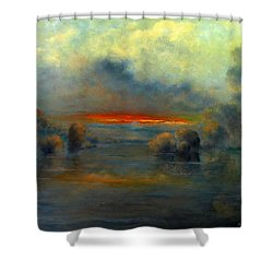 Bayou Evening 22x28 Shower Curtain