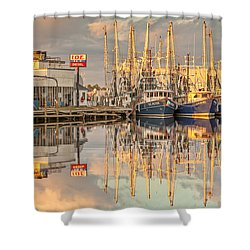 Bayou La Batre' Al Shrimp Boat Reflections 39 Shower Curtain