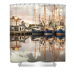 Bayou La Batre' Al Shrimp Boat Reflections 40 Shower Curtain