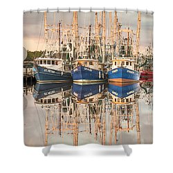 Bayou La Batre' Al Shrimp Boat Reflections 41 Shower Curtain