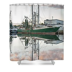Bayou La Batre' Al Shrimp Boat Reflections 42 Shower Curtain