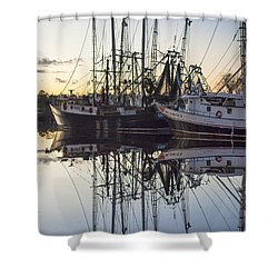 Bayou La Batre' Al Shrimp Boat Reflections 43 Shower Curtain