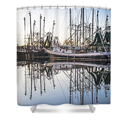 Bayou La Batre' Al Shrimp Boat Reflections 44 Shower Curtain