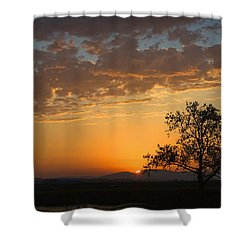 Shower Curtain featuring the photograph Bayview Sunset by Sonya Lang