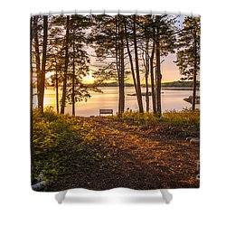 Bayview Sunset Shower Curtain by Susan Cole Kelly
