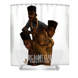 Bdk White Bg Shower Curtain