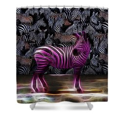 Be Courageous - Be Different - Zebra Shower Curtain