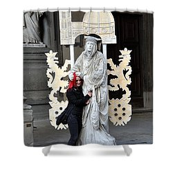 Be Mime Shower Curtain