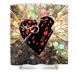 Shower Curtain featuring the photograph Be My Valentine by Ally  White