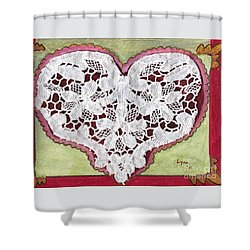 Be My Valentine Shower Curtain