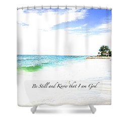 Be Still #3 Shower Curtain by Margie Amberge