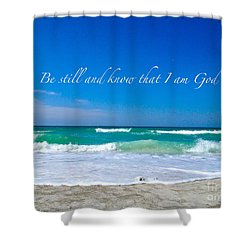 Be Still #4 Shower Curtain by Margie Amberge