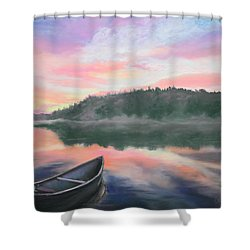 Be Still  Shower Curtain by Cathy Weaver