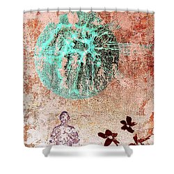 Shower Curtain featuring the painting Be The Buddha by Jacqueline McReynolds