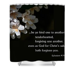 Shower Curtain featuring the photograph Be Ye Kind by Larry Bishop