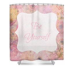Be Yourself Daisies Shower Curtain