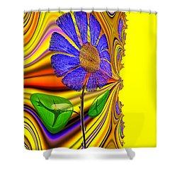 Shower Curtain featuring the digital art Carpe Diem Feng Shui by Digital Feng Shui