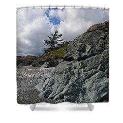 Beach At Fort Rodd Hill Shower Curtain