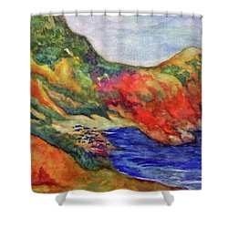 Beach At Moraira Shower Curtain