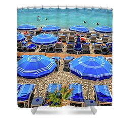Beach At Nice France Shower Curtain