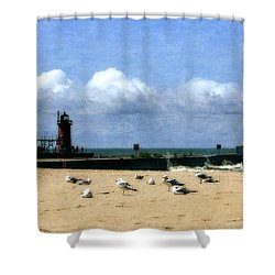 Beach At South Haven  Shower Curtain