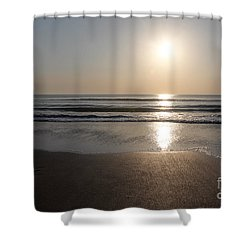 Beach At Sunrise Shower Curtain