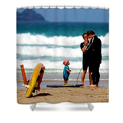 Beach Baby Shower Curtain by Terri Waters