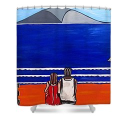 Beach Beach Day Three Shower Curtain by Sandra Marie Adams
