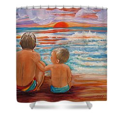 Beach Buddies II Shower Curtain