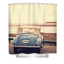Beach Bum Shower Curtain by Edward Fielding
