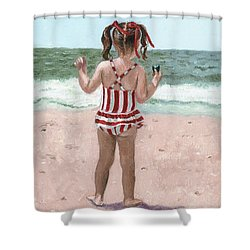 Beach Buns Shower Curtain
