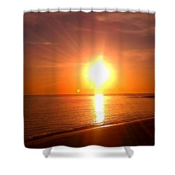 Shower Curtain featuring the photograph Beach by Chris Tarpening
