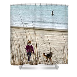 Beach Companions Shower Curtain by Sandi OReilly