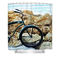 Beach Cruiser - Bicycle Art By Sharon Cummings Shower Curtain by Sharon Cummings