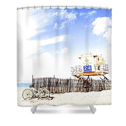 Shower Curtain featuring the photograph Beach Cruiser by Margie Amberge