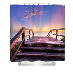 Beach Dreams Shower Curtain by Debra and Dave Vanderlaan