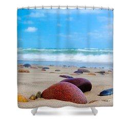 Beach Dreams In Skagen Shower Curtain by Inge Johnsson