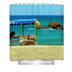 Beach Entrepreneur In San Jose Del Cabo Shower Curtain