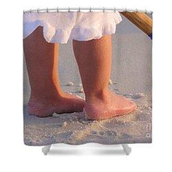 Shower Curtain featuring the photograph Beach Feet  by Nava Thompson