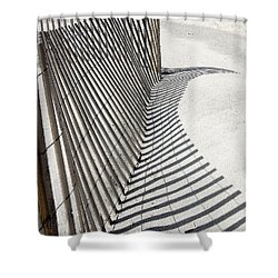 Beach Fence With Shadow Shower Curtain
