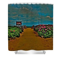 Beach Flowers Shower Curtain